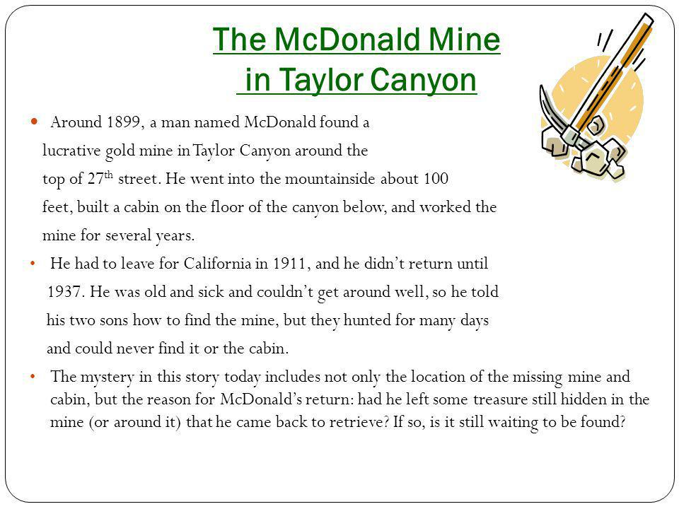 The McDonald Mine in Taylor Canyon