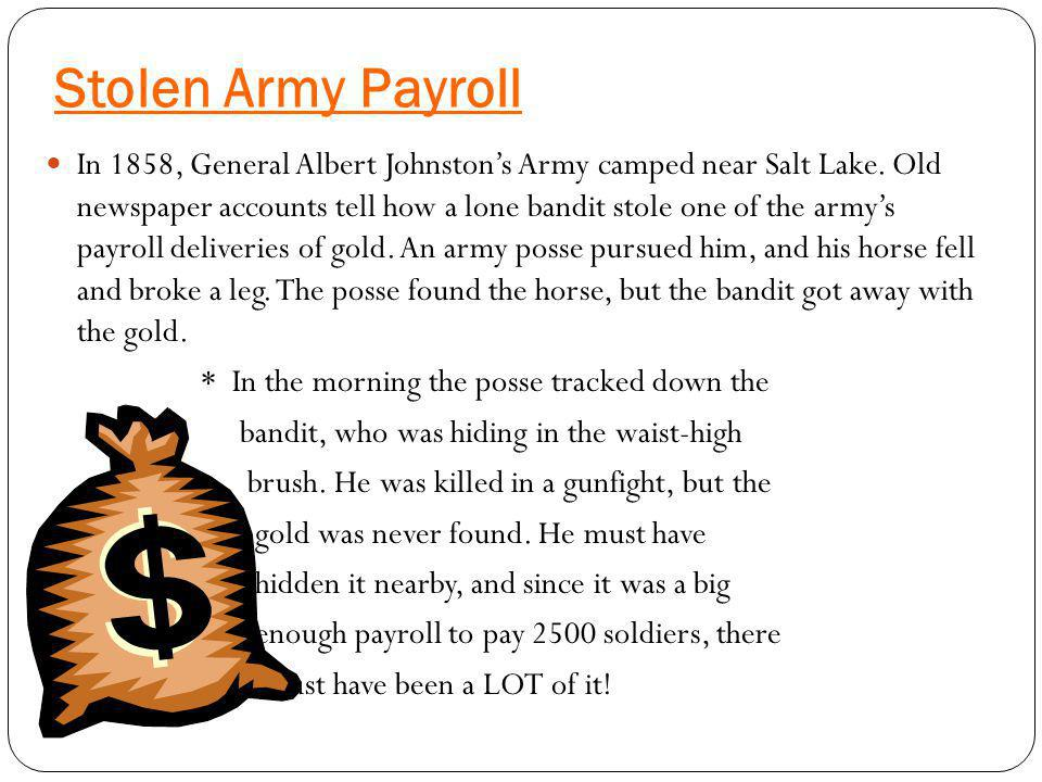 Stolen Army Payroll