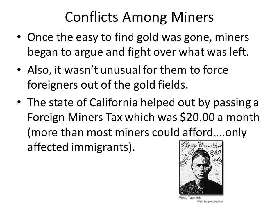 Conflicts Among Miners