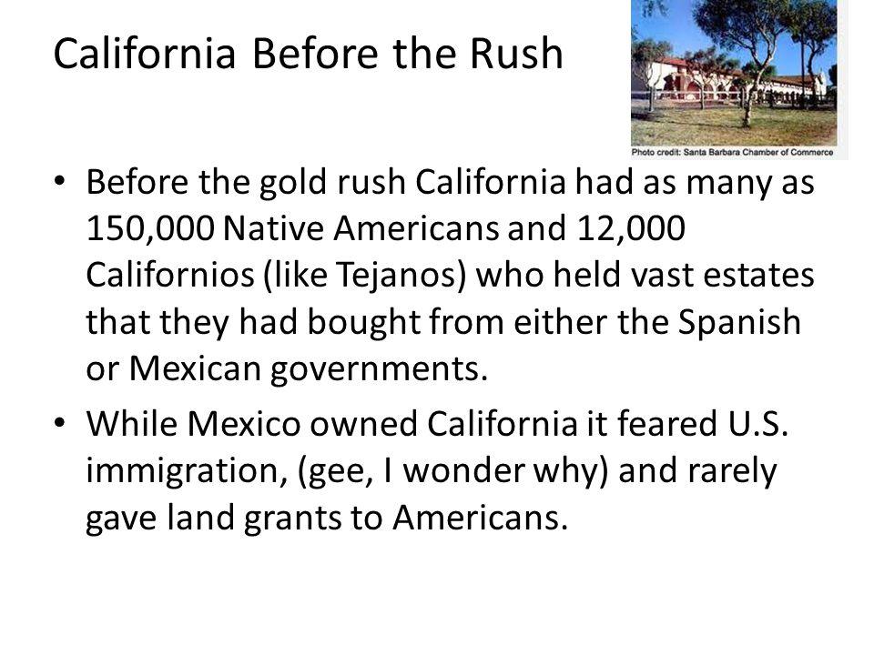 California Before the Rush