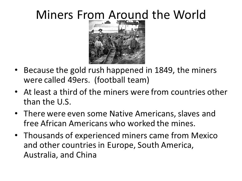 Miners From Around the World