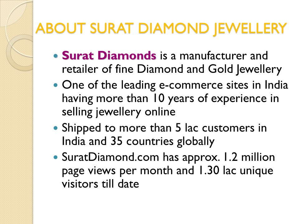 ABOUT SURAT DIAMOND JEWELLERY