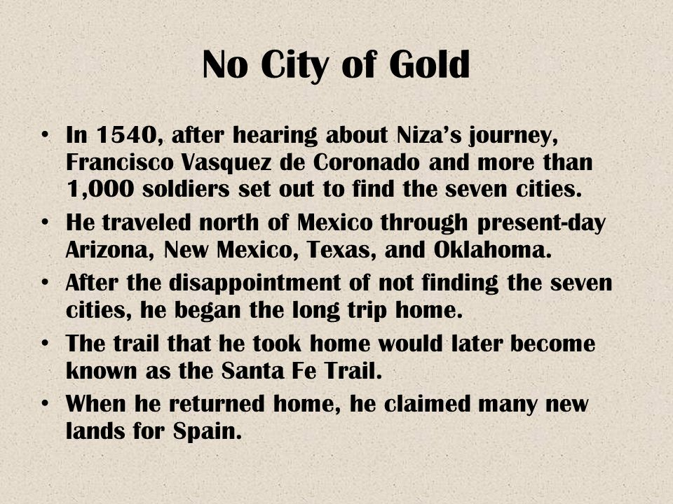 No City of Gold