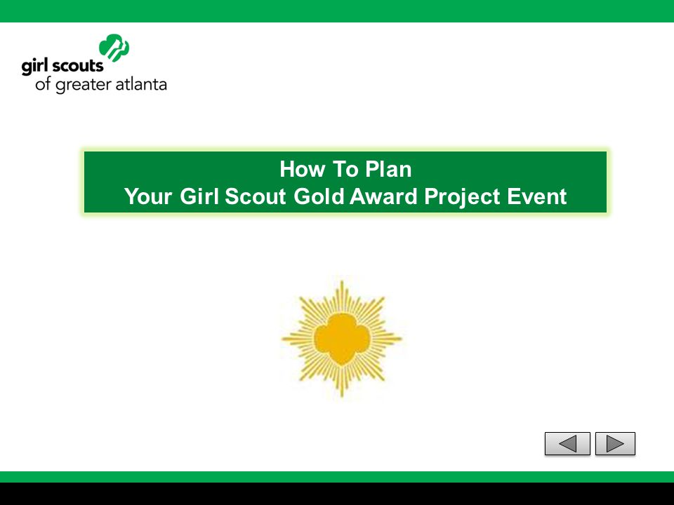 Your Girl Scout Gold Award Project Event