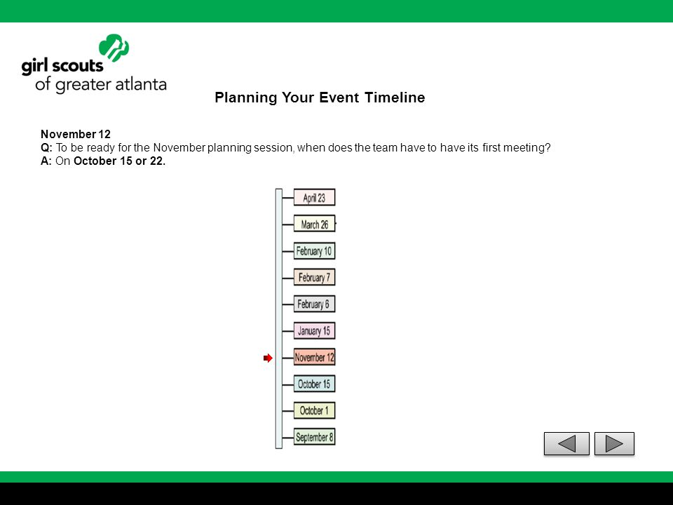 Planning Your Event Timeline