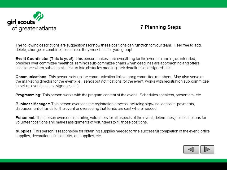 7 Planning Steps