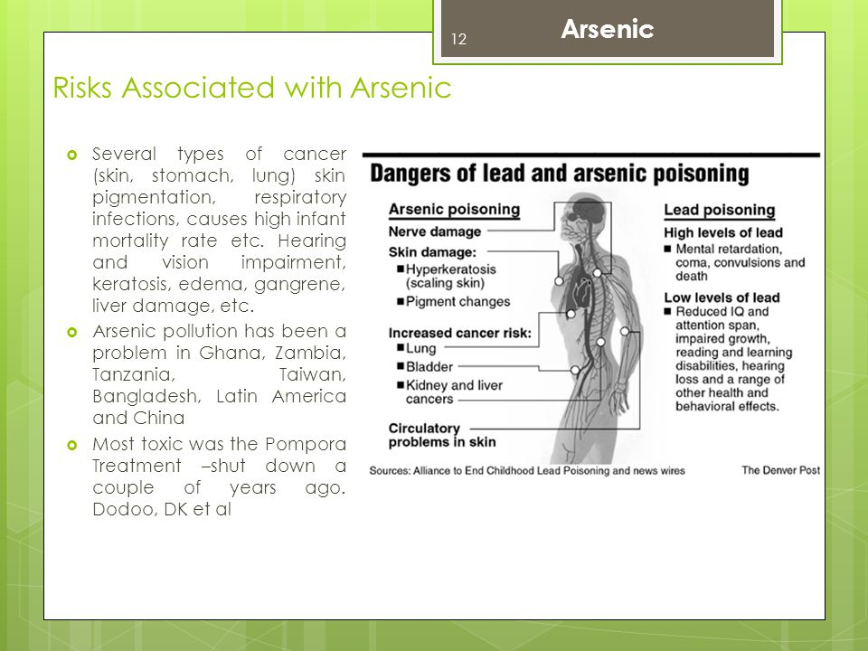 Risks Associated with Arsenic
