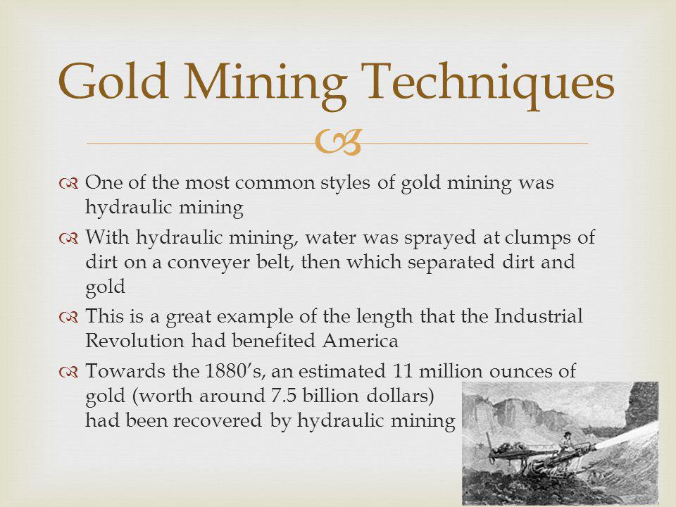 Gold Mining Techniques