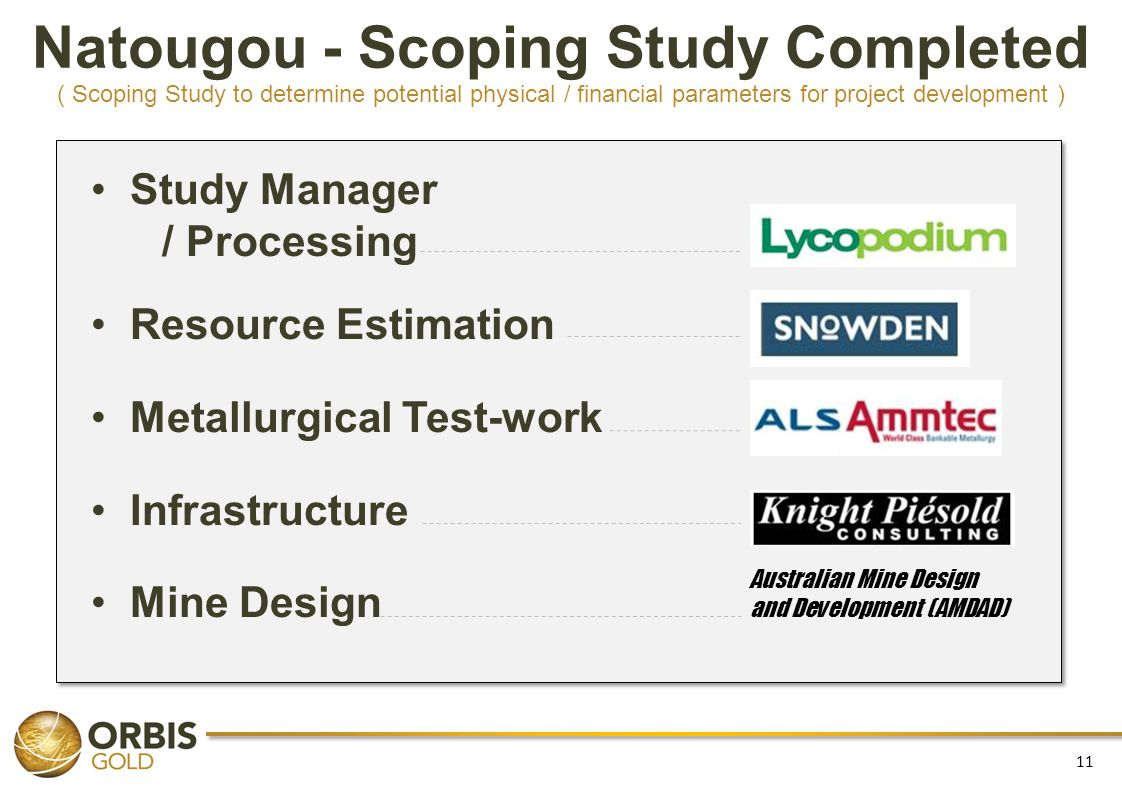 Natougou - Scoping Study Completed