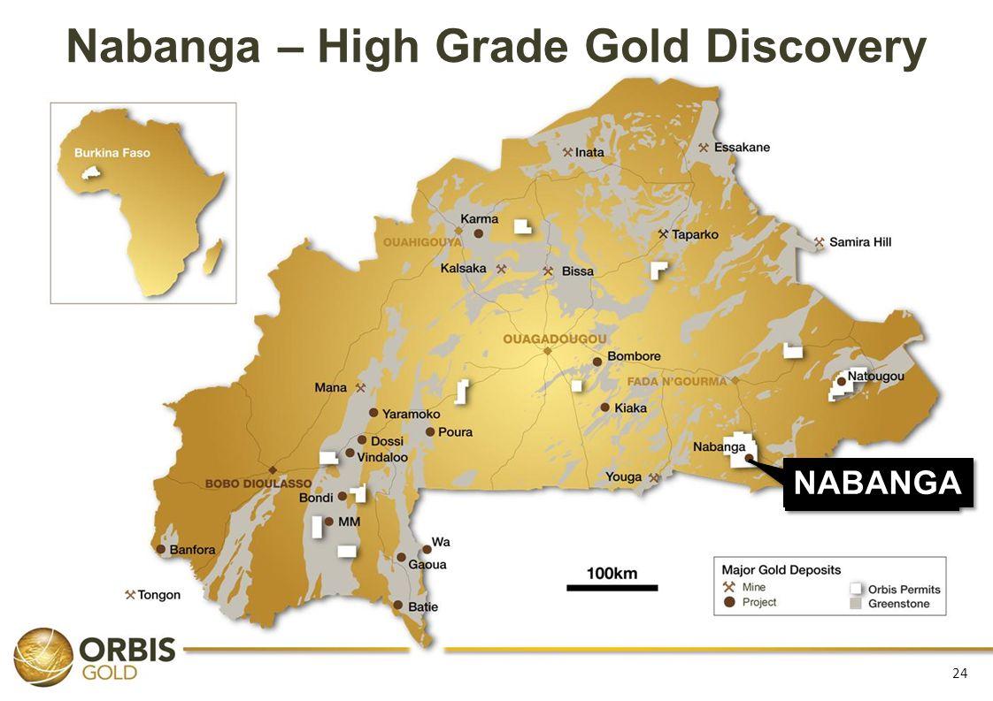 Nabanga – High Grade Gold Discovery