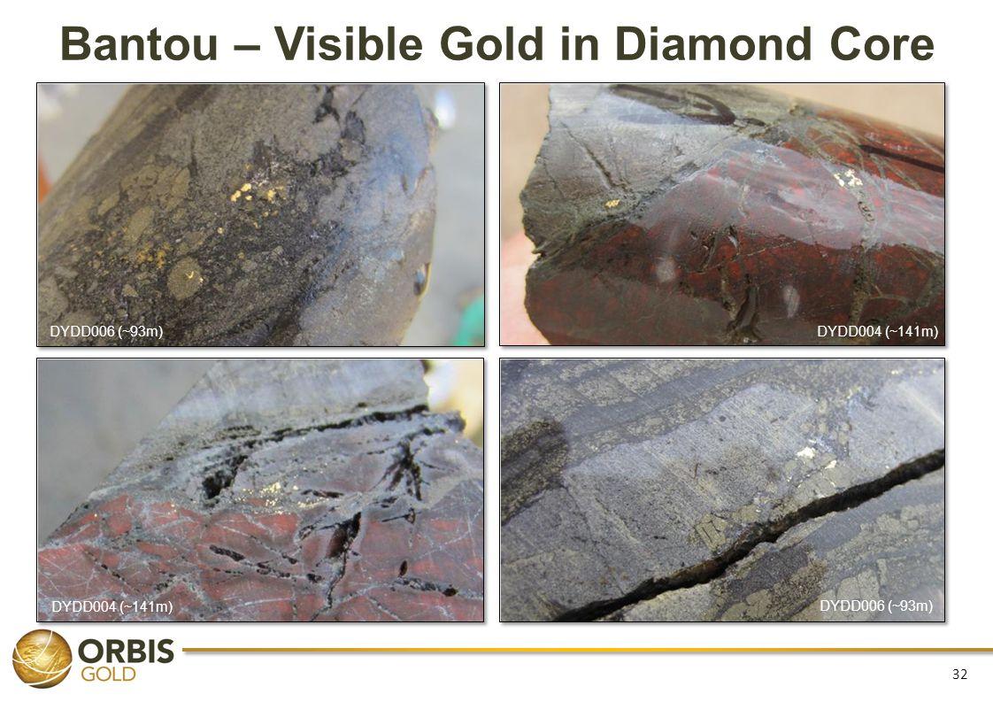 Bantou – Visible Gold in Diamond Core