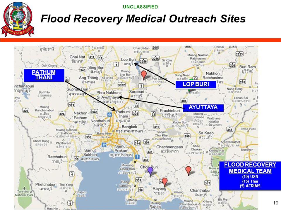 Flood Recovery Medical Outreach Sites