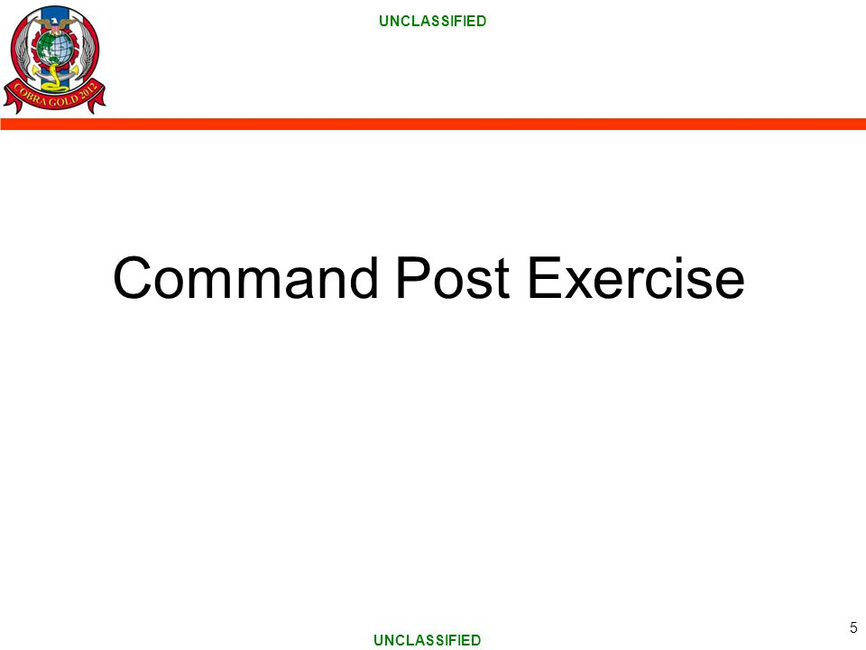 UNCLASSIFIED Command Post Exercise