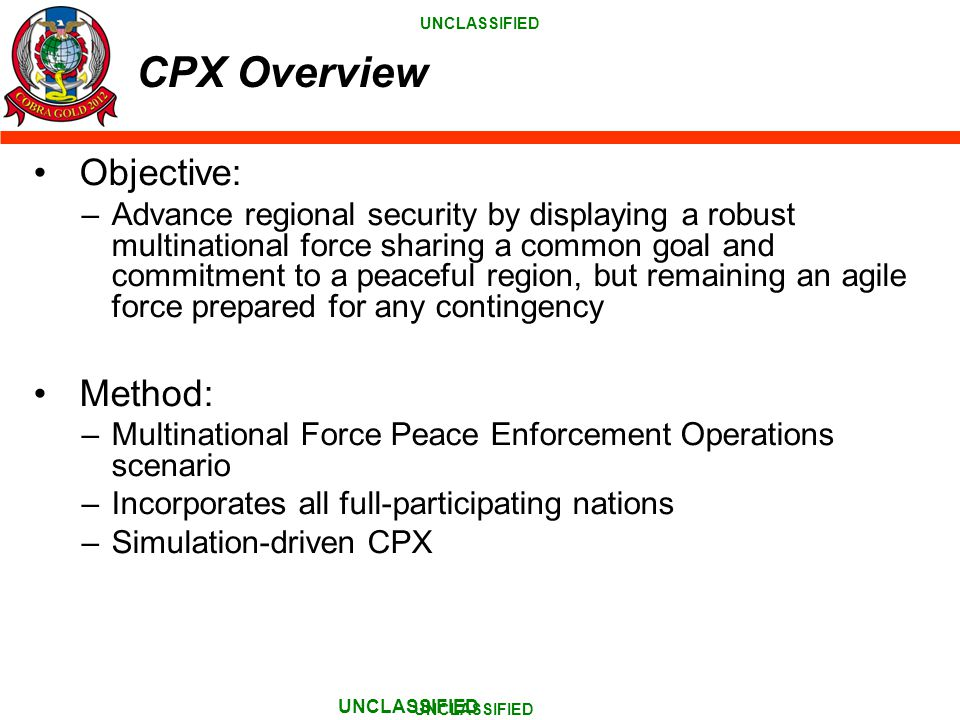 CPX Overview Objective: Method: