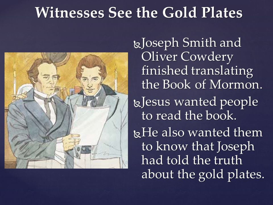 Witnesses See the Gold Plates