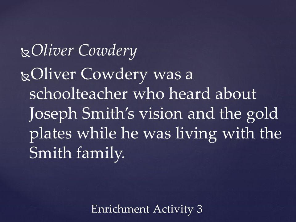 Oliver Cowdery