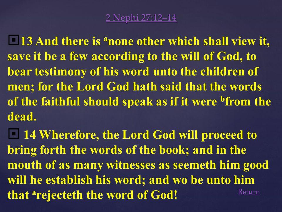2 Nephi 27:12–14