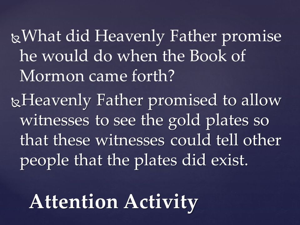 What did Heavenly Father promise he would do when the Book of Mormon came forth