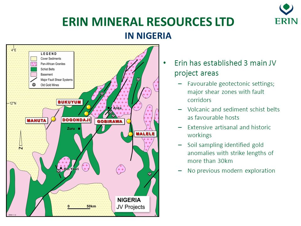 ERIN MINERAL RESOURCES LTD IN NIGERIA
