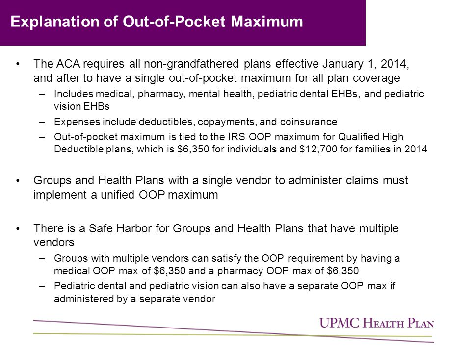 Explanation of Out-of-Pocket Maximum