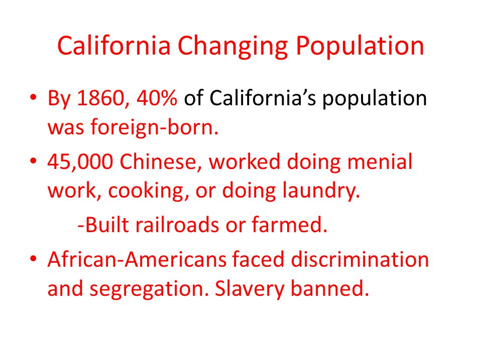 California Changing Population