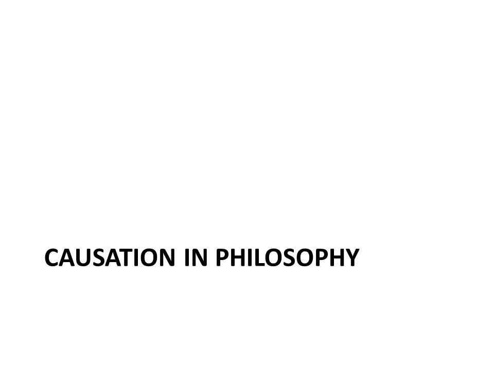 Causation in philosophy