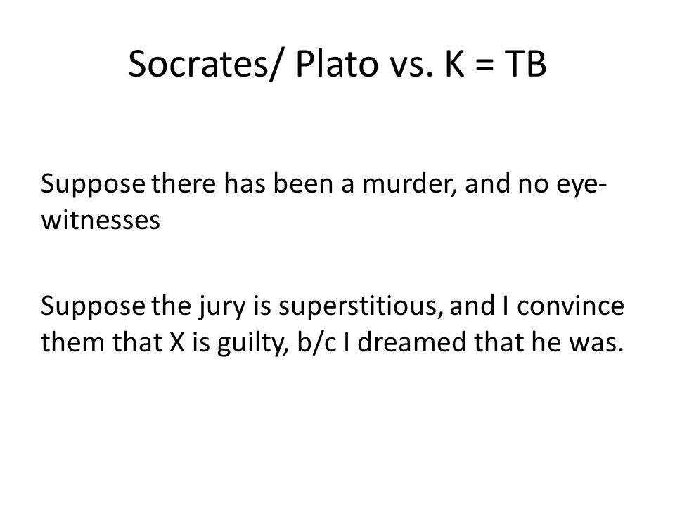 Socrates/ Plato vs. K = TB