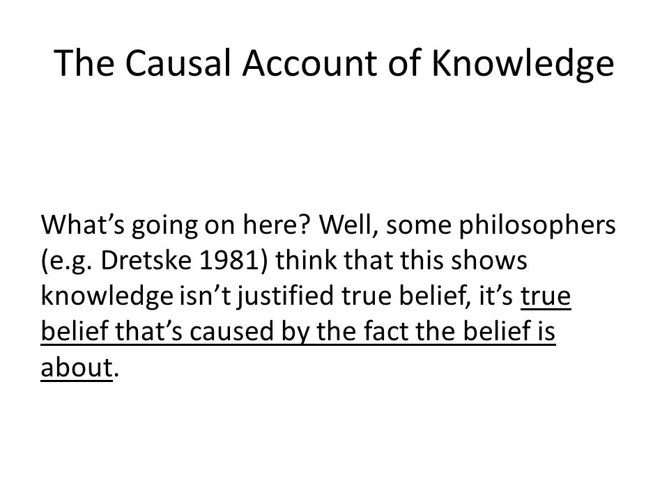 The Causal Account of Knowledge