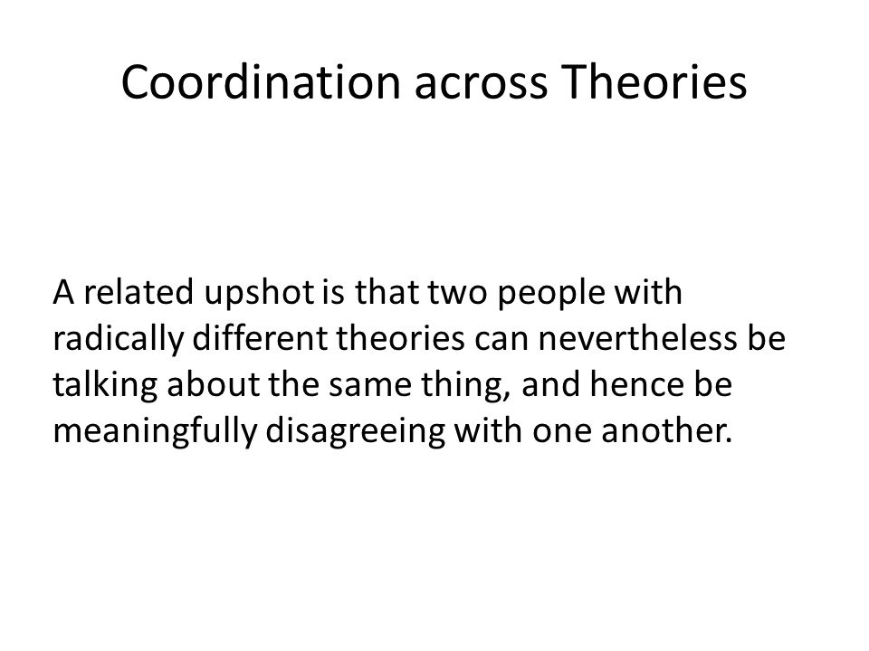 Coordination across Theories