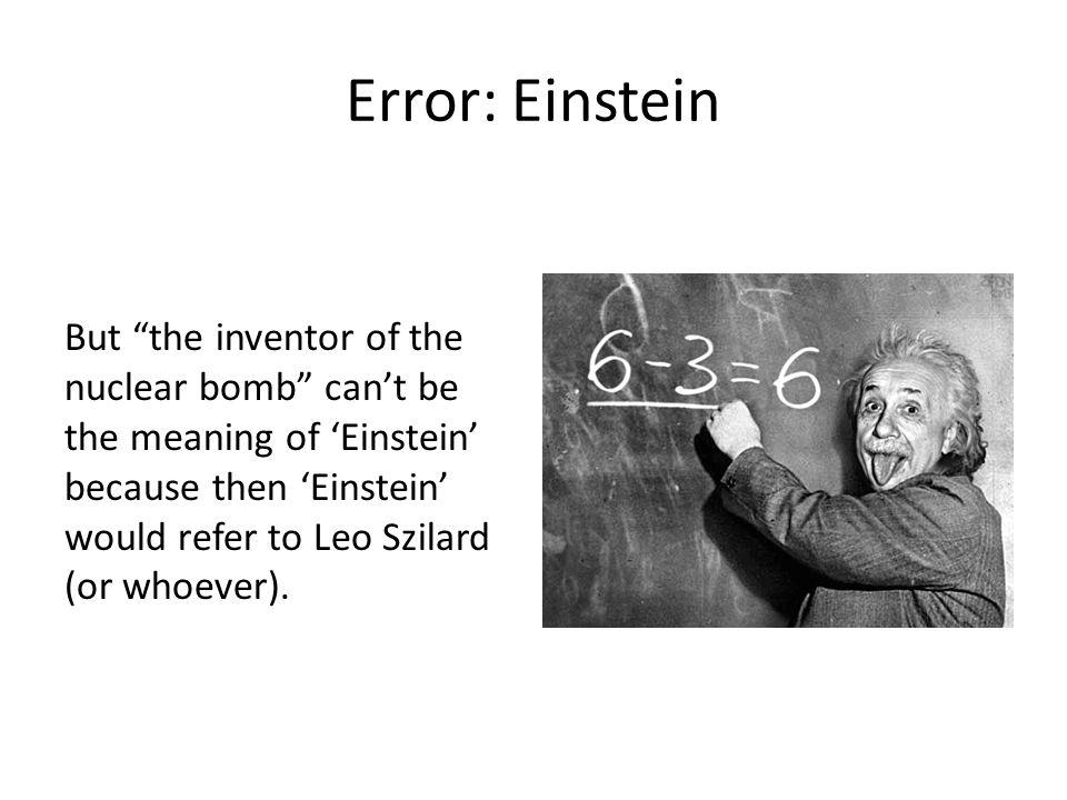 Error: Einstein