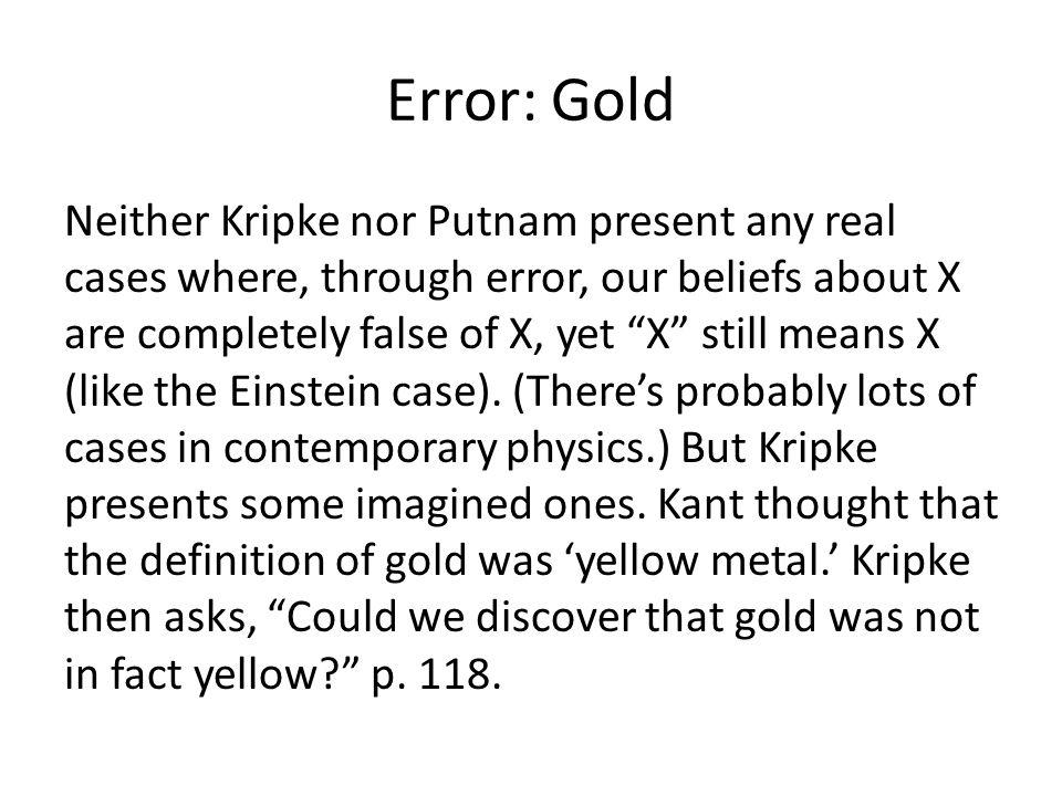 Error: Gold