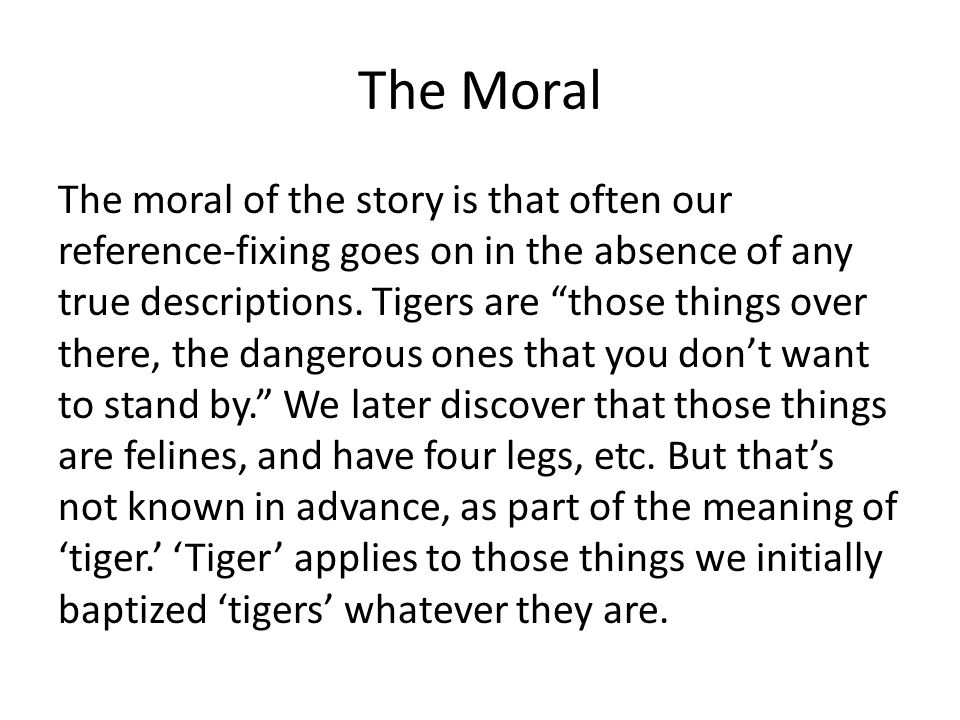 The Moral