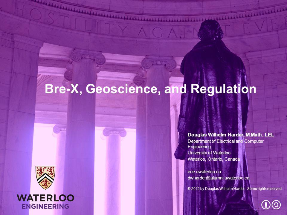 Bre-X, Geoscience, and Regulation