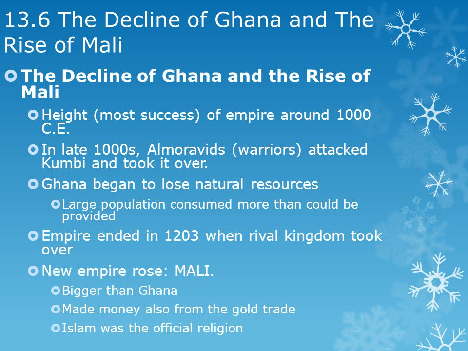 13.6 The Decline of Ghana and The Rise of Mali