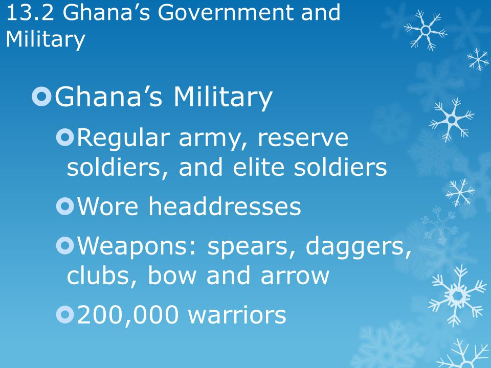 13.2 Ghana's Government and Military