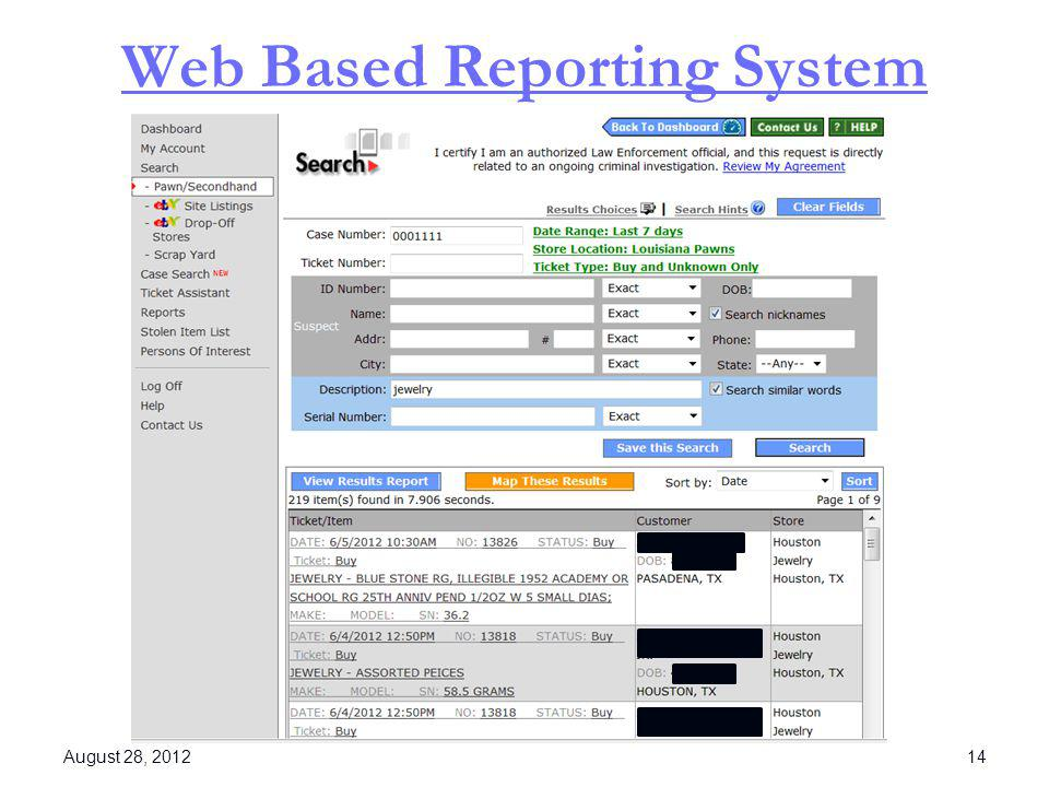 Web Based Reporting System