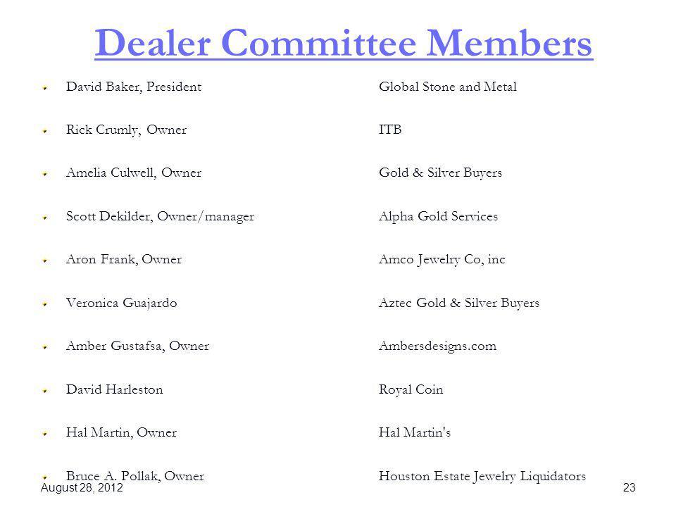Dealer Committee Members