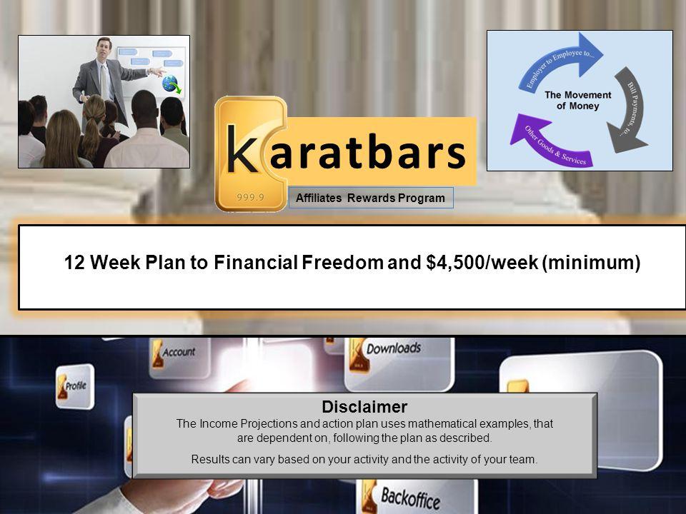 12 Week Plan to Financial Freedom and $4,500/week (minimum)