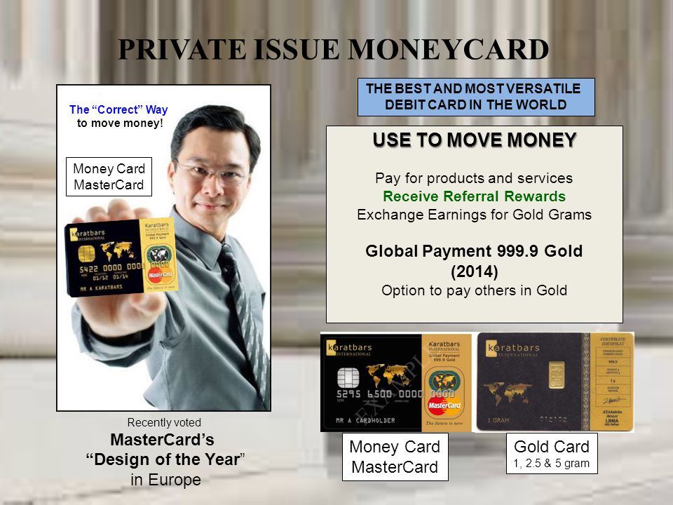 PRIVATE ISSUE MONEYCARD
