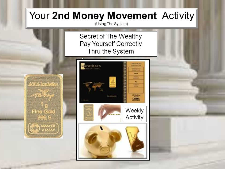 Your 2nd Money Movement Activity