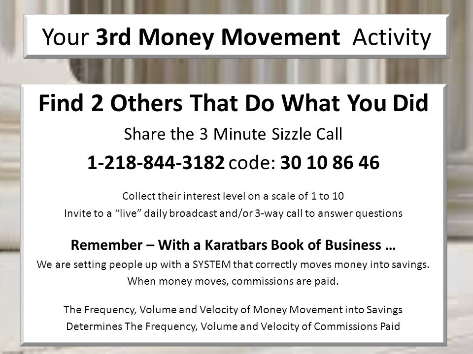 Your 3rd Money Movement Activity