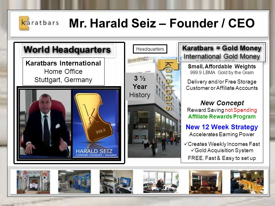Karatbars International Affiliate Rewards Program