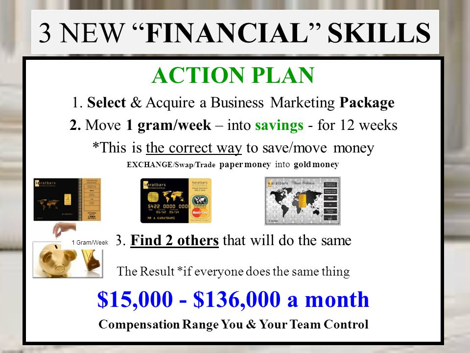 3 NEW FINANCIAL SKILLS