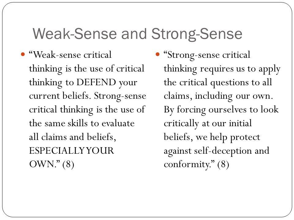 Weak-Sense and Strong-Sense