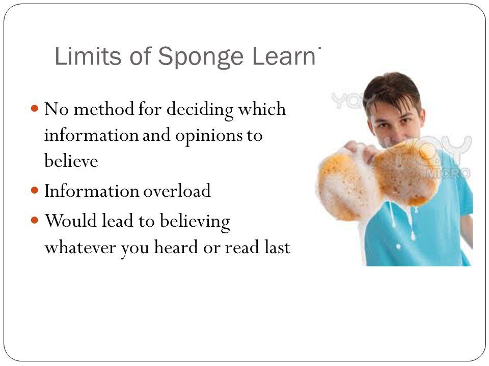 Limits of Sponge Learning