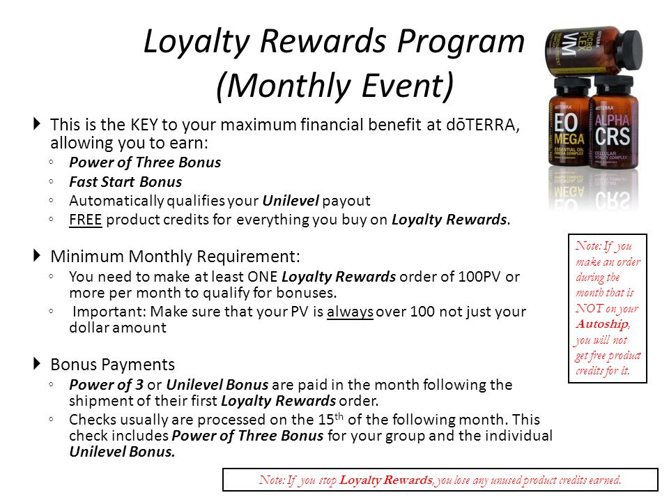 Loyalty Rewards Program (Monthly Event)