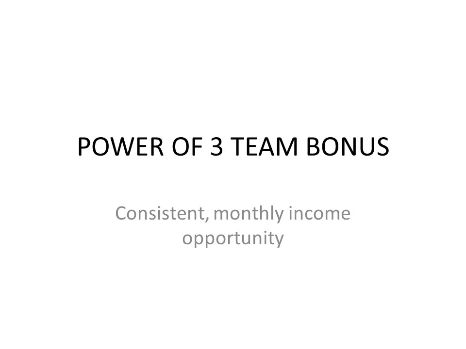 Consistent, monthly income opportunity