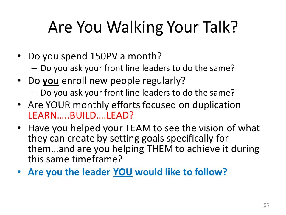 Are You Walking Your Talk