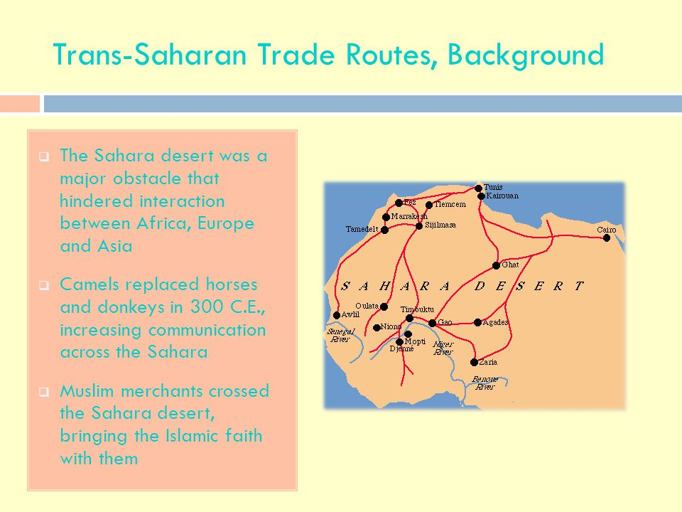 Trans-Saharan Trade Routes, Background