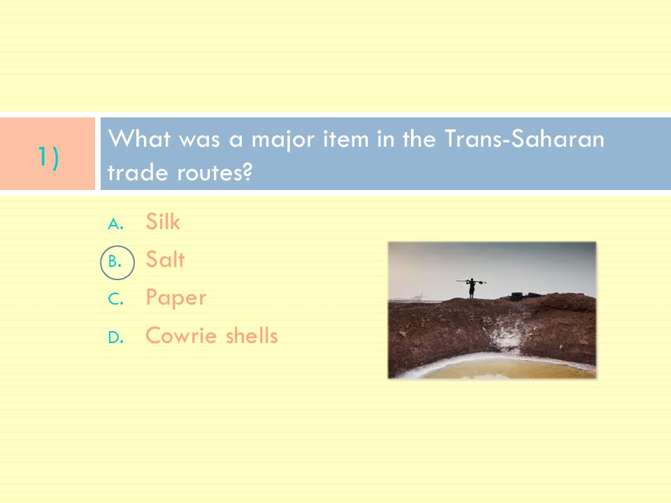What was a major item in the Trans-Saharan trade routes